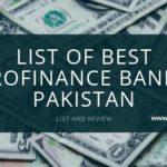 List of Best Microfinance Banks in Pakistan